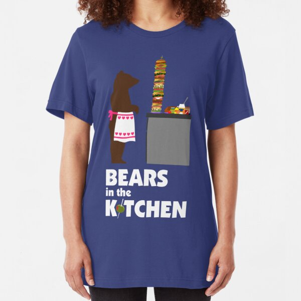 Bears in the Kitchen shirt Slim Fit T-Shirt