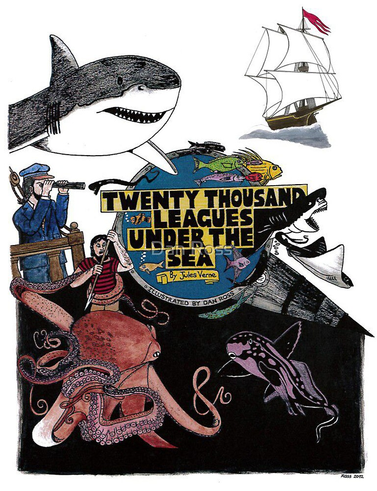 """20,000 Leagues under the Sea"" The Graphic Novel  by Daniel Ross"