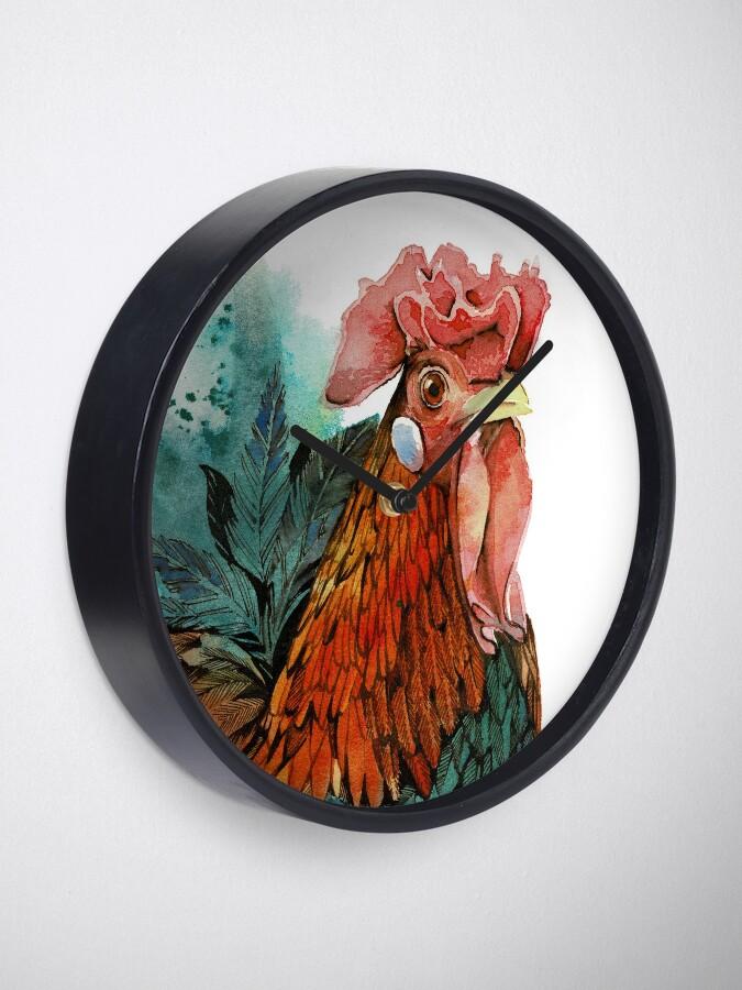 Alternate view of Good Lookin' Rooster (Wim) Clock