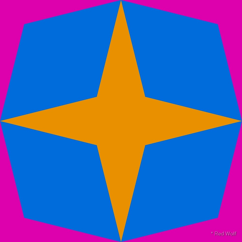 Geometric Pattern: Diamond Star: Ashbury by * Red Wolf