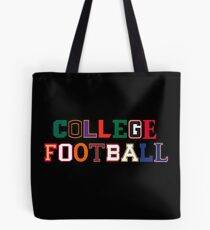 College Football Letters Tote Bag
