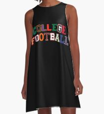 College Football Letters A-Line Dress