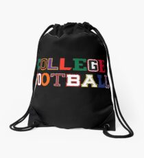 College Football Letters Drawstring Bag