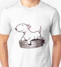 Bull Terrier On Board Funny T-Shirt