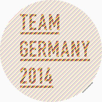 Team Germany for the World Cup 2014 by everysaturday