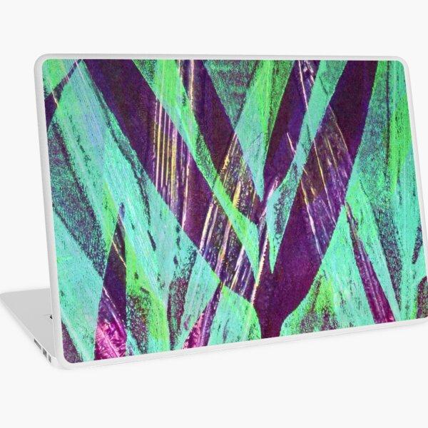Bamboo: mauve and green Laptop Skin