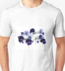 backlit pansy petals on a lightbox  T-Shirt