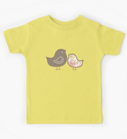 Sweet Pink Damask Mommy and Baby Chicks Kids Clothes
