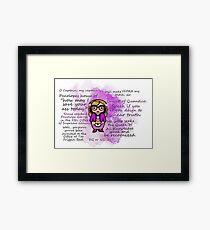Ms. Penelope Garcia Framed Print