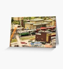 Military Tanks Transportation by rail  Greeting Card