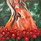 Sit under the tree of fairie and dream a little while. by lizzymasonart