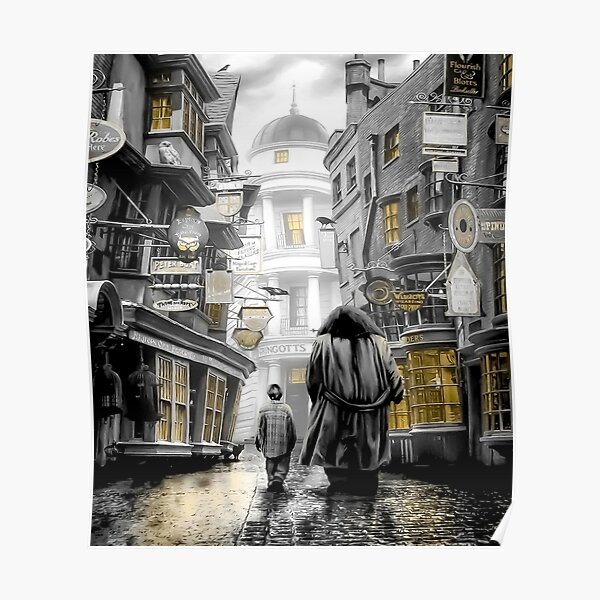 Harry diagon alley road Poster