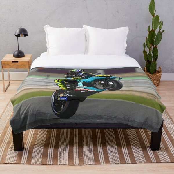 Valentino Rossi making a wheelie 2021 abstract Throw Blanket