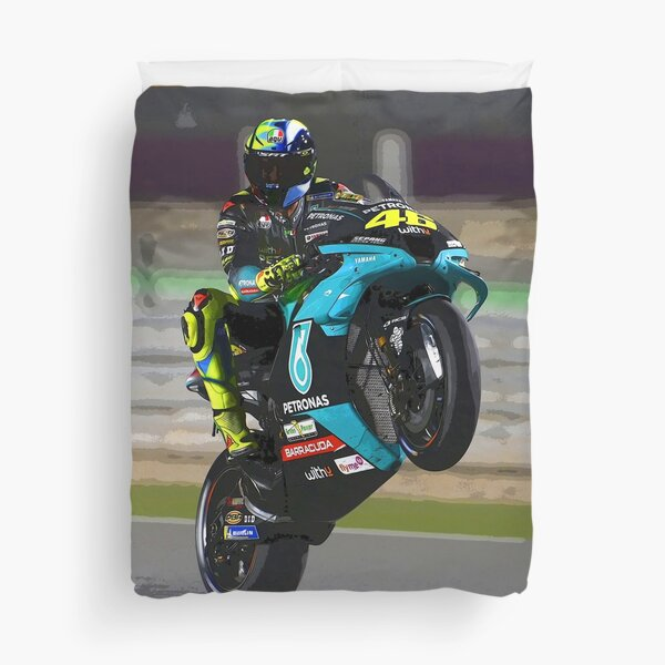 Valentino Rossi making a wheelie 2021 abstract Duvet Cover