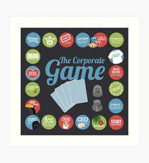 Corporate Game with humorous milestones. Art Print