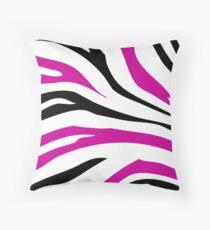 Pink Black Zebra Stripe Pattern Pillow Throw Pillow