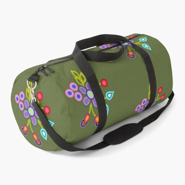 Beadwork Floral Love Duffle Bag