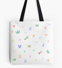 Kingdom Hearts Pastel Pattern Tote Bag