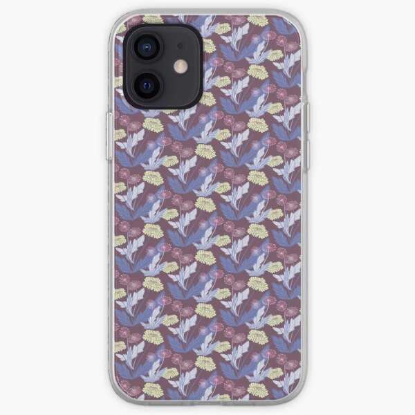 Purple dandelions iPhone Soft Case