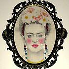 Frida Kahlo in Baroque frame by Elisabete Nascimento