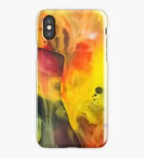 Abstraction watercolor painting - cave iPhone Case