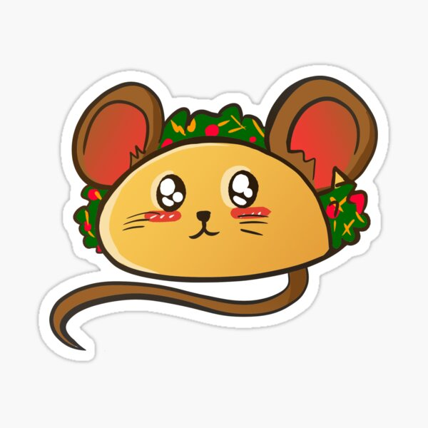 Mouse Taco Sticker