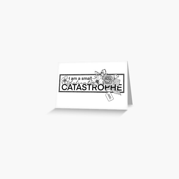 Catastrophe Sticker Greeting Card