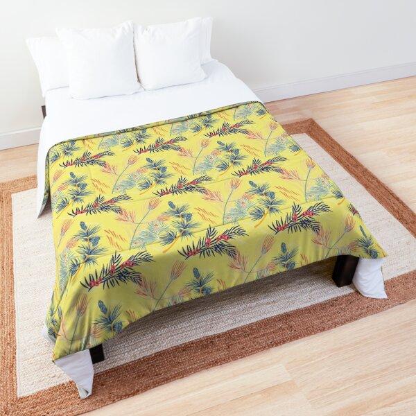 Pine and berries Comforter