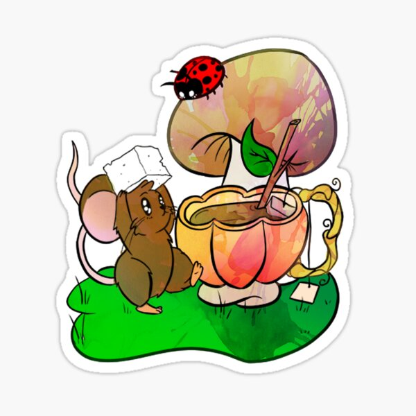 Tea Tiime for Mouse and Lady Bug Sticker