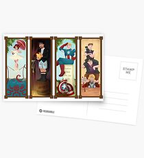 Avengers Stretching Portraits Postcards