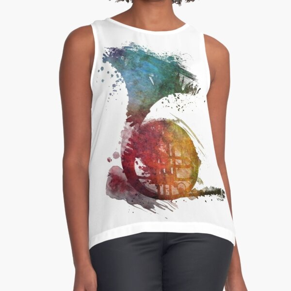 French horn watercolor  Sleeveless Top