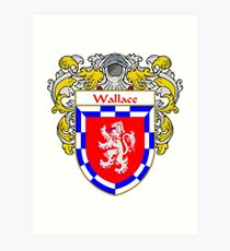 Wallace Coat of Arms / Wallace Family Crest Art Print