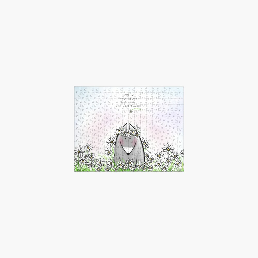 With Many Flowers  Jigsaw Puzzle