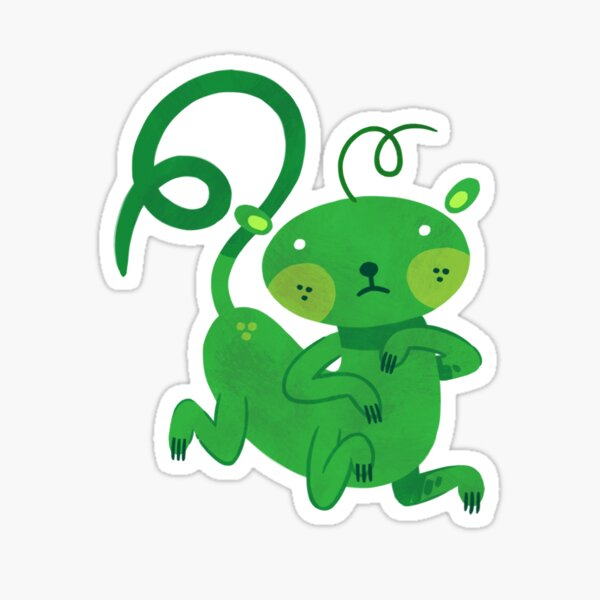 Green Kittypede Sticker