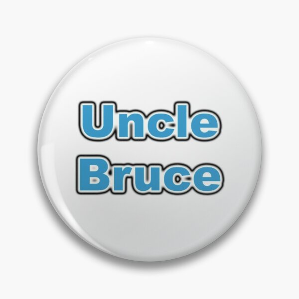 Uncle Bruce logo Pin