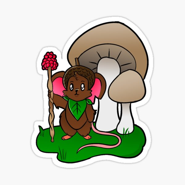 Forest Guardian Mouse Sticker