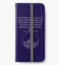 somehow made me feel less... alone iPhone Wallet/Case/Skin