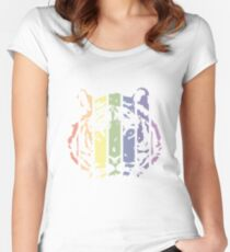 Tiger Color Stripes Women's Fitted Scoop T-Shirt