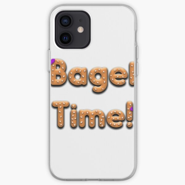 Bagel Time With Uncle Bruce logo iPhone Soft Case