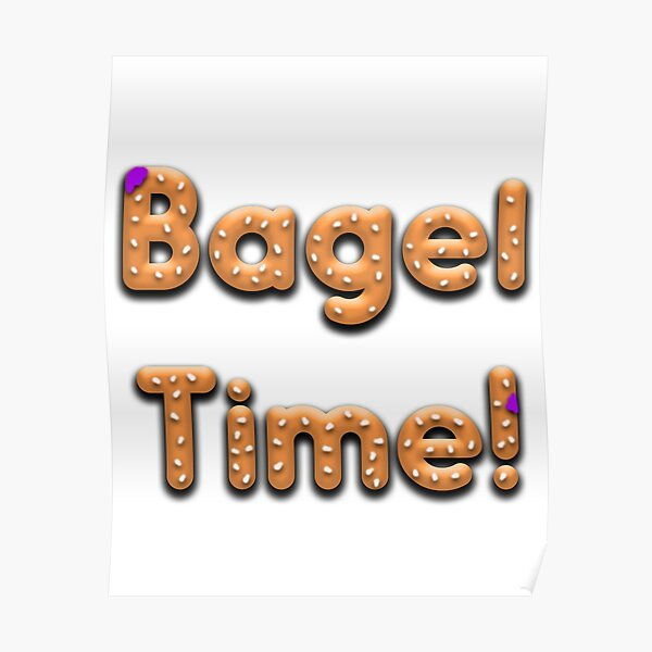 Bagel Time With Uncle Bruce logo Poster