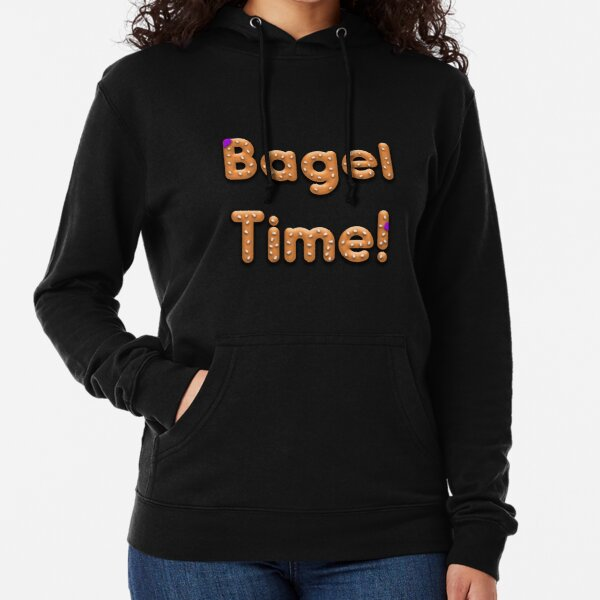 Bagel Time With Uncle Bruce logo Lightweight Hoodie