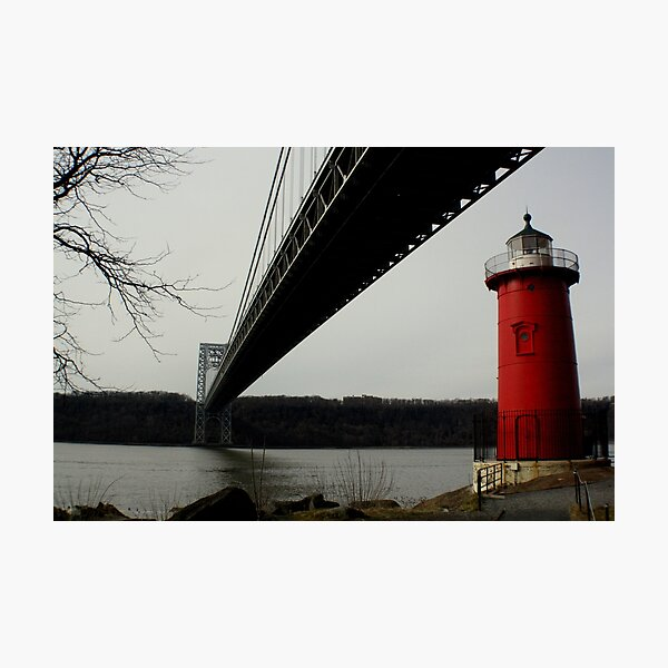 Little Red Lighthouse & George Washington Bridge Photographic Print
