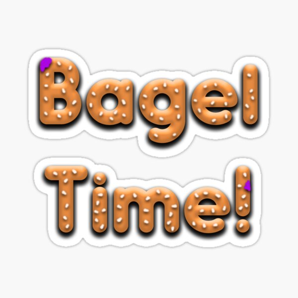 Bagel Time With Uncle Bruce logo Sticker
