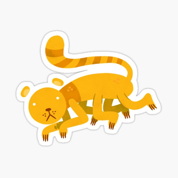 Yellow Kittypede Sticker