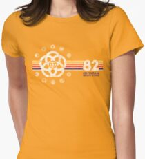 EPCOT Center Vintage Style Distressed Pavilion Logos  Women's Fitted T-Shirt