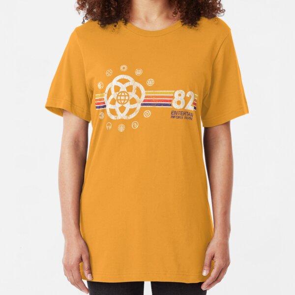 EPCOT Center Vintage Style Distressed Pavilion Logos  Slim Fit T-Shirt