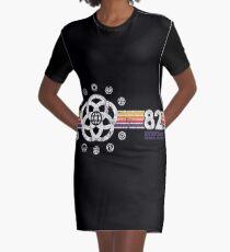 EPCOT Center Vintage Stil Distressed Pavillon Logos T-Shirt Kleid