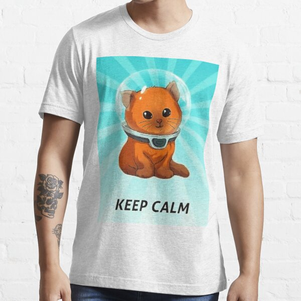 Subnautica Keep Calm Kitty Fixed Color Essential T-Shirt