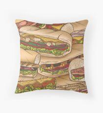 Subway sandwhiches Throw Pillow