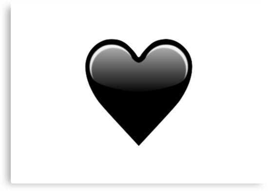 coeur noir emoji impressions sur toile par mia ferriso redbubble. Black Bedroom Furniture Sets. Home Design Ideas